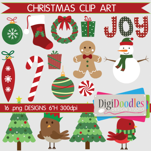 ChristmasCA-60005 Christmas Digital Clip Art Collection by DigiDoodles Design Studio